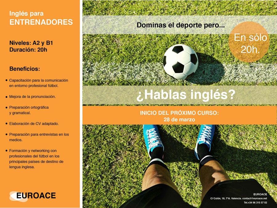 Curso intensivo de inglés para entrenadores de fútbol